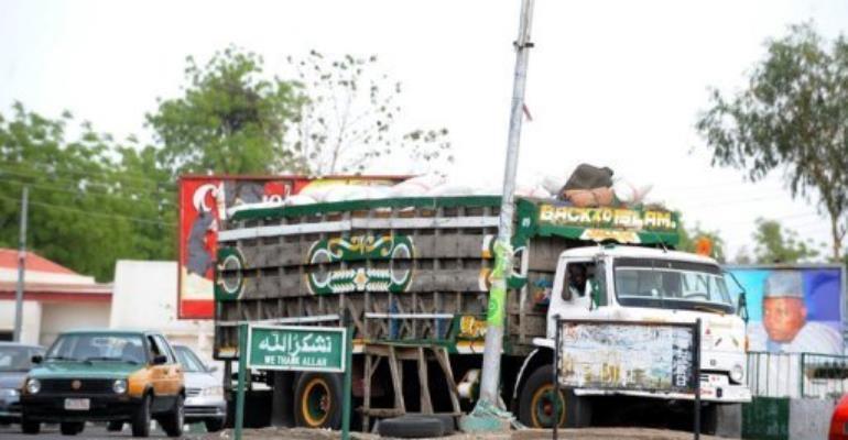 A truck in Maiduguri, home to Islamist group Boko Haram, in northeastern Nigeria.  By Pius Utomi Ekpei (AFP/File)
