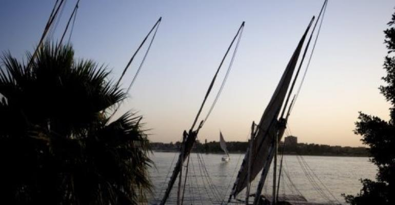 Boats moored on the Nile river in Cairo on May 11, 2012.  By Gianluigi Guercia (AFP/File)
