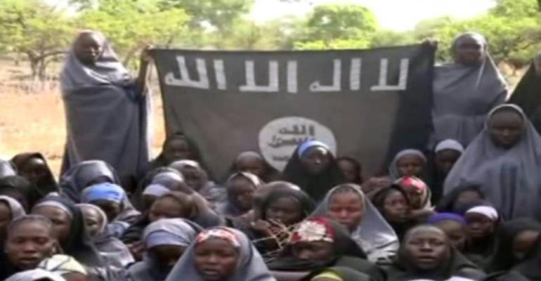 Boko Haram kidnapped almost 300 schoolgirls in the northeastern Nigerian town of Chibok in 2014.  By HO (BOKO HARAM/AFP/File)