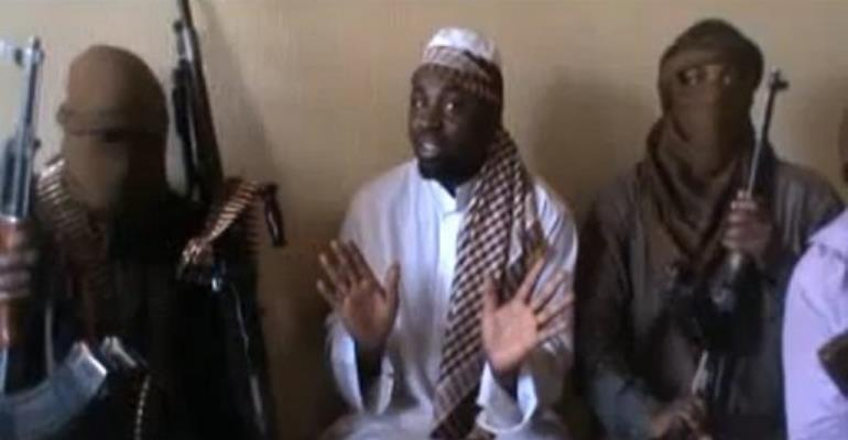 Abubakar Shekau (C) is Boko Haram group's suspected leader.  By  (AFP/HO/File)