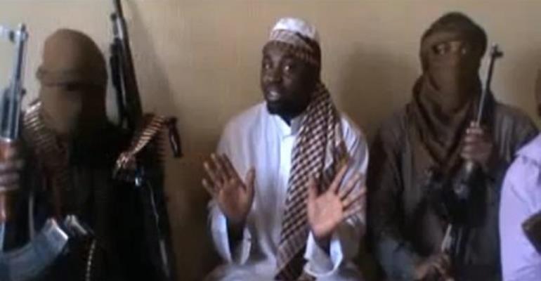 Abubakar Shekau (C) is Boko Haram group's suspected leader.  By  (AFP/HO/File)