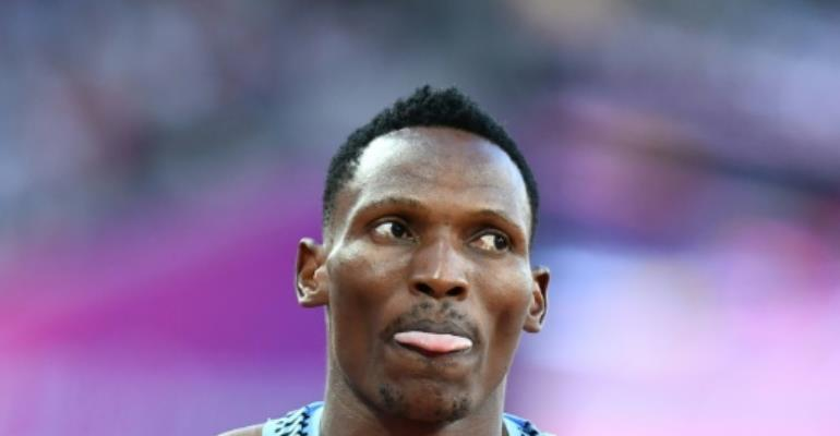 Botswana's Isaac Makwala had insisted Tuesday he was ready to run the 400m, scheduled for 2050 GMT, before the IAAF stepped in.  By Jewel SAMAD (AFP/File)