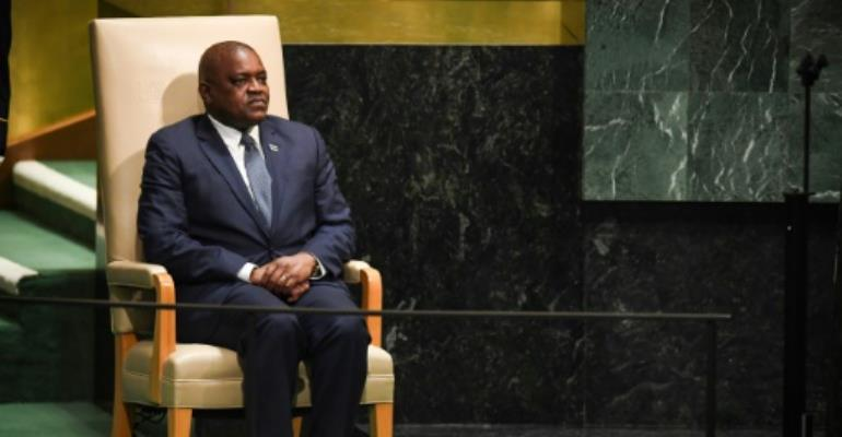 Botswana's President Mokgweetsi Eric Keabetswe Masisi is squaring off against ex-foreign minister, Pelonomi Venson-Moitoi to be the ruling party's candidate for presidential elections in October.  By TIMOTHY A. CLARY (AFP/File)