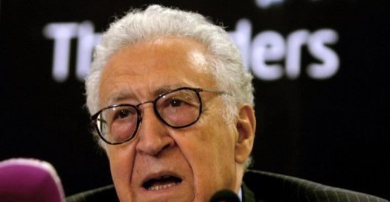 Former Algerian foreign minister Lakhdar Brahimi.  By Ashraf Shazly (AFP/File)