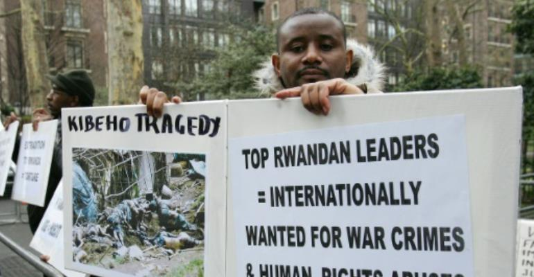 British courts have previously denied a Rwandan extradition request for the five men.  By CARL DE SOUZA (AFP/File)
