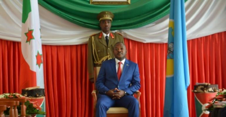 Burundi President Pierre Nkurunziza has been in power since 2005.  By Landry Nshimiye (AFP/File)