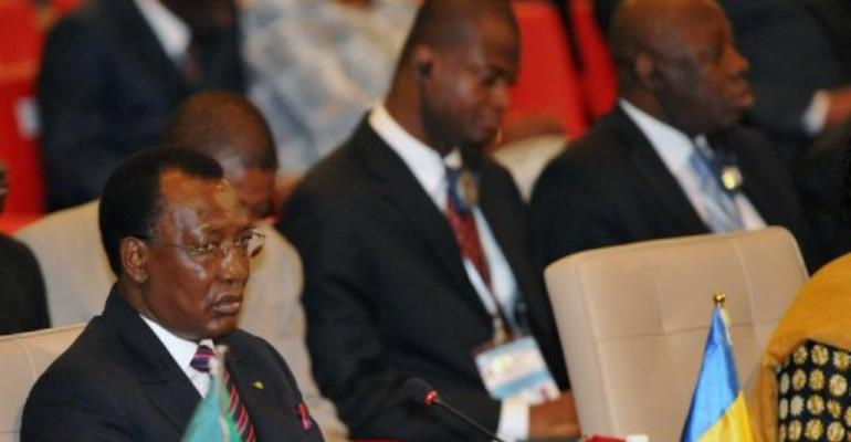 Chadian President Idriss Deby attends the opening of the regional bloc ECOWAS  summit, January 19, 2013 in Abidjan.  By Sia Kambou (AFP/File)