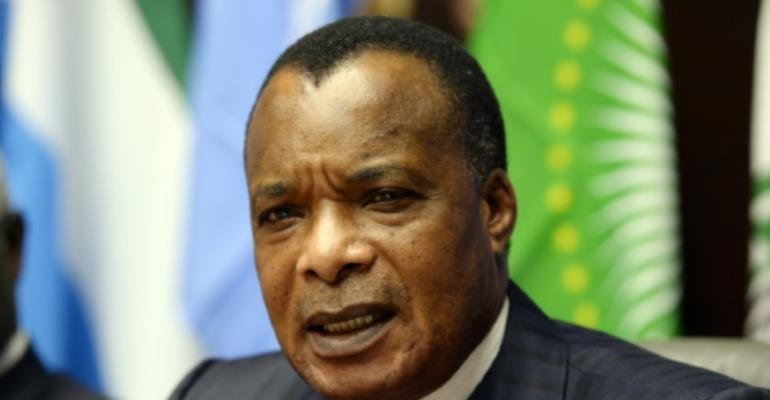 Congolese people on October 25, 2015 are voting in a referendum to decide whether President Denis Sassou Nguesso can seek a third term in office, and stand again in 2016.  By Thierry Charlier (AFP/File)