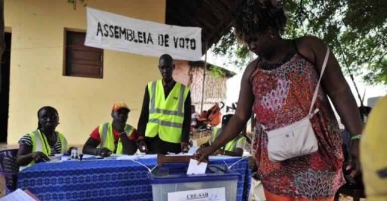 The vote is a test of stability for the improverished former Portuguese colony.  By Issouf Sanogo (AFP)