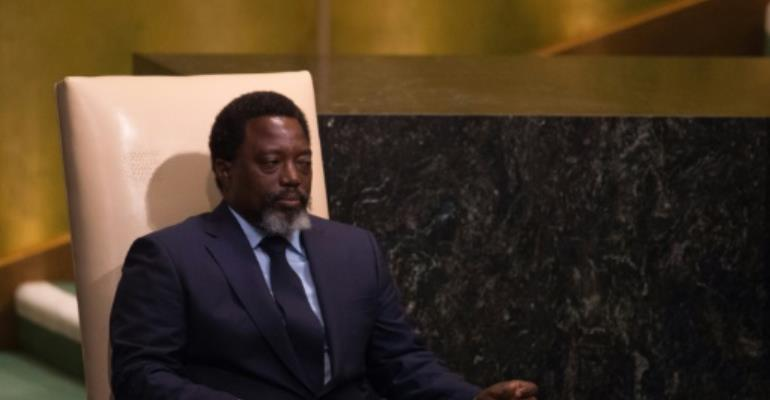 Democratic Republic of Congo President Joseph Kabila's second and final mandate ended December 20 last year with no sign of him stepping down.  By Bryan R. Smith (AFP/File)
