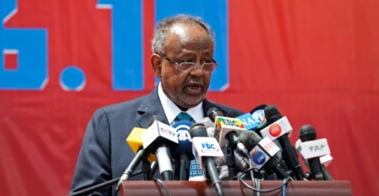 Djibouti's president, Ismaïl Omar Guelleh, has been at the helm of the tiny strategic state since 1999.  By ZACHARIAS ABUBEKER (AFP/File)