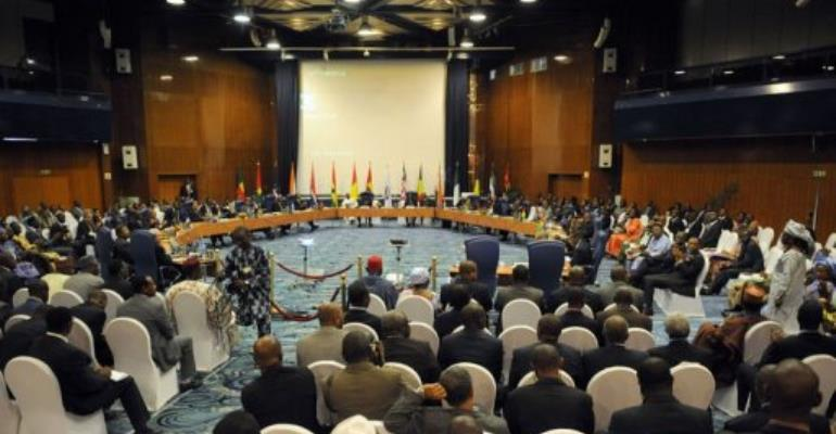 The ECOWAS Summit in Abuja.  By Pius Utomi Ekpei (AFP)
