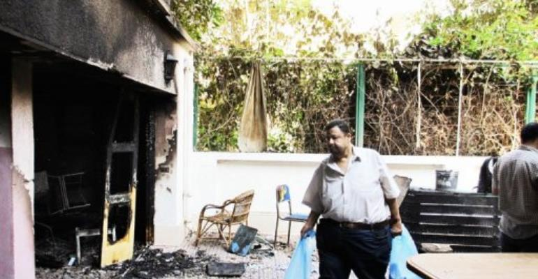 Eight suspects have been arrested after an attack on Ahmad Shafiq's campaign office.  By CHRISTOPHE DE ROQUEFEUIL (AFP)
