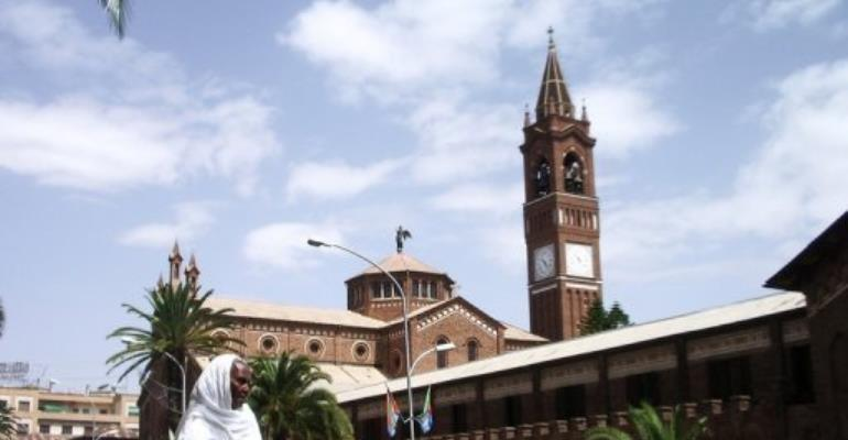 File picture shows the cathedral in Asmara,n July 3, 2007.  By Peter Martell (AFP/File)