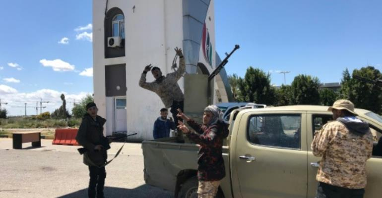 Forces loyal to Libya's internationally recognised Government of National Accord, which is seeking to fend off an offensive by strongman Khalifa Haftar.  By Mahmud TURKIA (AFP)