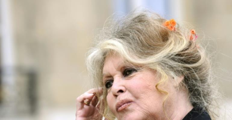 French actress and animal rights activist Brigitte Bardot had previously criticized US President Donald Trump over his administration's move to loosen restrictions on hunting bears and wolves on federally protected land in Alaska.  By ERIC FEFERBERG (AFP/File)