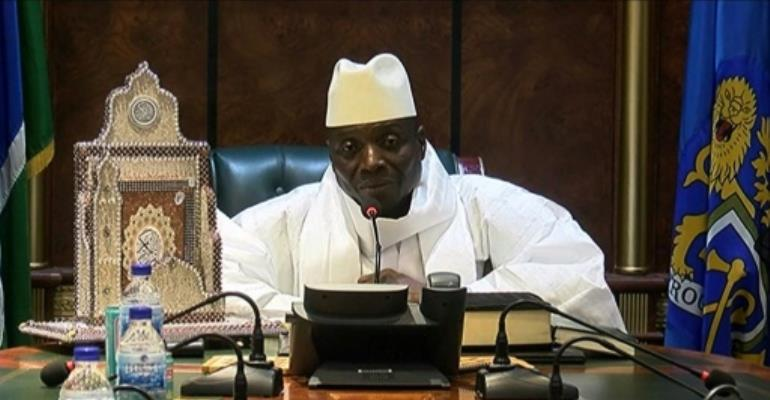 Gambian President Yahya Jammeh, seen December 2, 2016, has been the leader of the country for 22 years.  By Handout (GRTS - Gambia Radio and Television Services/AFP/File)