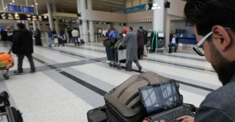 In March, Washington barred all electronic devices larger than a mobile phone on direct flights to the United States from 10 airports in Turkey, the Middle East and North Africa.  By ANWAR AMRO (AFP/File)