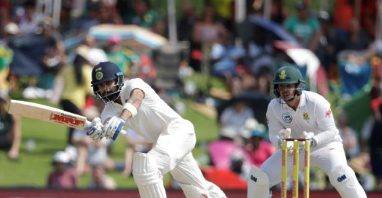 India recover after losing two quick wickets in second SA Test