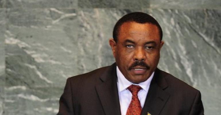 Hailemariam Desalegn.  By Emmanuel Dunand (AFP/File)