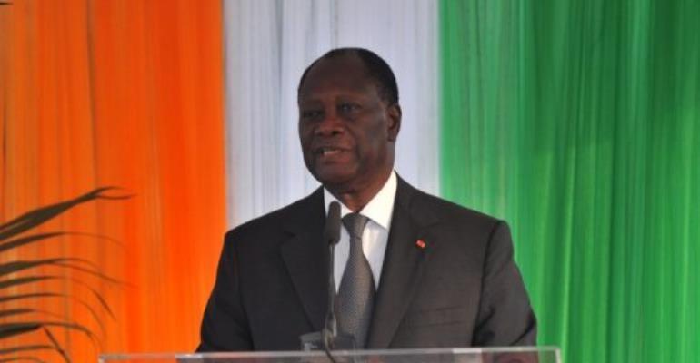 Alassane Ouattara.  By Sia Kambou (AFP/File)