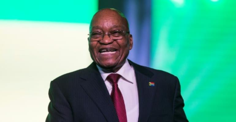 Jacob Zuma said factionalism was undermining the ruling ANC, Africa's oldest liberation movement.  By WIKUS DE WET (AFP)
