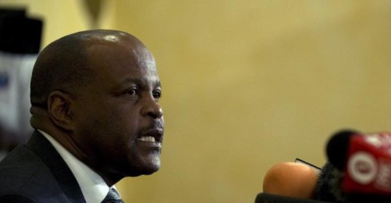 Phakiso Mochochoko, head of jurisdiction at The Hague based court.  By Tony Karumba (AFP)