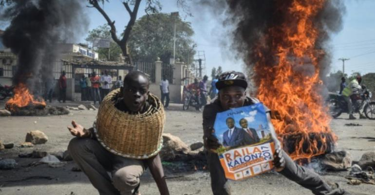 Kenya's election saga has been fraught with drama, some of which has been violent.  By Brian Ongoro (AFP/File)