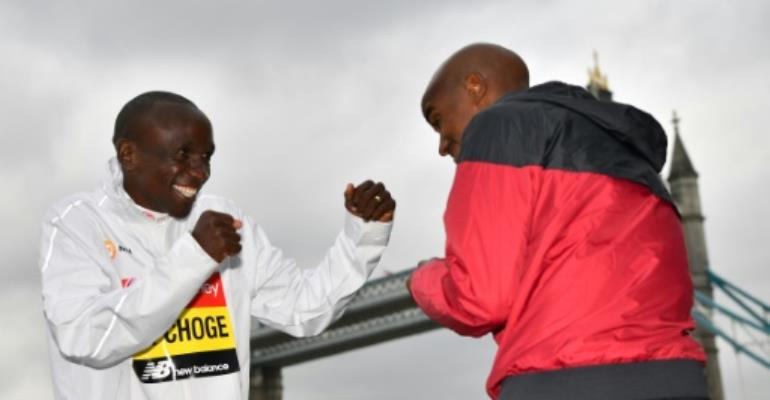 Kipchoge stands in way of Farah London Marathon glory