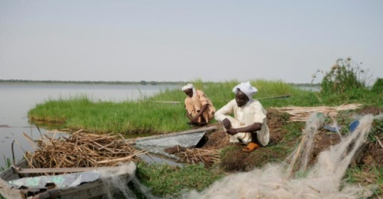 Lake Chad is the principal source of freshwater for 40 million people.  By CAROLINE CHAUVET (AFP/File)