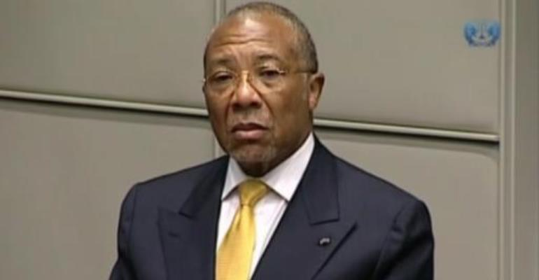 A TV grab released by the Special Court for Sierra Leone shows Liberian ex-president Charles Taylor being sentenced for war crimes on May 30, 2012 in Leidschendam.  By  (SPECIAL COURT FOR SIERRA LEONE/AFP/File)