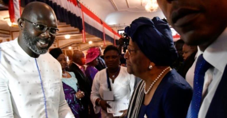 George Weah sworn in as Liberia president