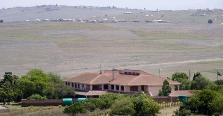 Nelson Mandela's house, in the village of Qunu.  By Rodger Bosch (AFP/File)