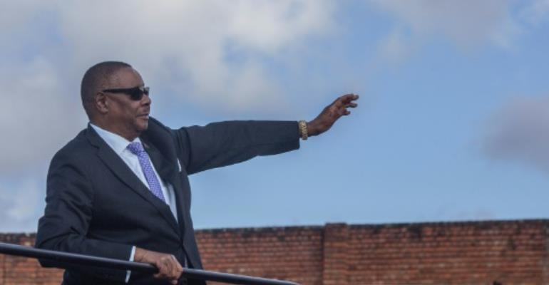 Malawi President Peter Mutharika is seeking a second term in office.  By Amos Gumulira (AFP)