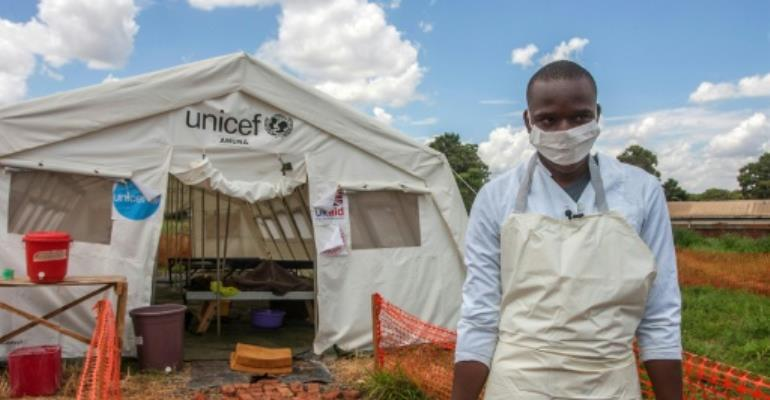 Malawi's cholera outbreak began in November near the border with Tanzania and has since spread to other regions of the country.  By AMOS GUMULIRA (AFP/File)