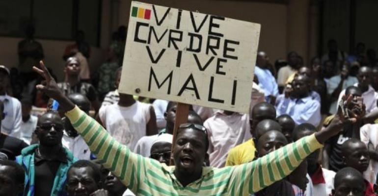 Junta envoys have promised to work towards restoring constitutional order.  By Issouf Sanogo (AFP)