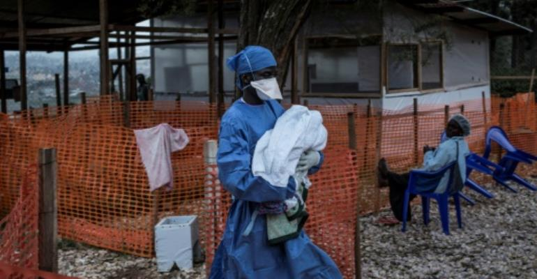 More than 1,000 people are now known to have been infected during the eight-month-old epidemic, almost two-thirds of whom have died, according to the country's health ministry.  By John WESSELS (AFP/File)