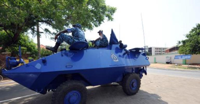 Ghanaian police have been deployed to help those affected by the severe weather condition in Accra.  By Pius Utomi Ekpei (AFP/File)