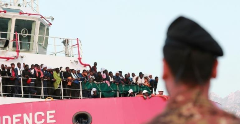 More than 86,000 migrants have arrived in Italy this year -- a 10 percent increase over the previous year.  By CARLO HERMANN (AFP/File)