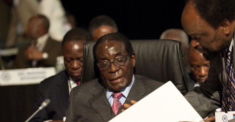 Zimbabwean President  Robert Mugabe  attends a Southern African Development Community (SADC) Extraordinary Summit.  By Alexander Joe (AFP/File)