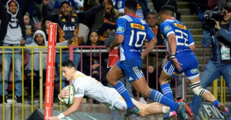 Stevenson try seals \'ugly\' rugby win for Chiefs