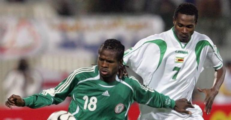 Obodo (front), a Nigerian international midfielder, was driving to see a relative when he was kidnapped at gunpoint.  By Abdelhak Senna (AFP/File)