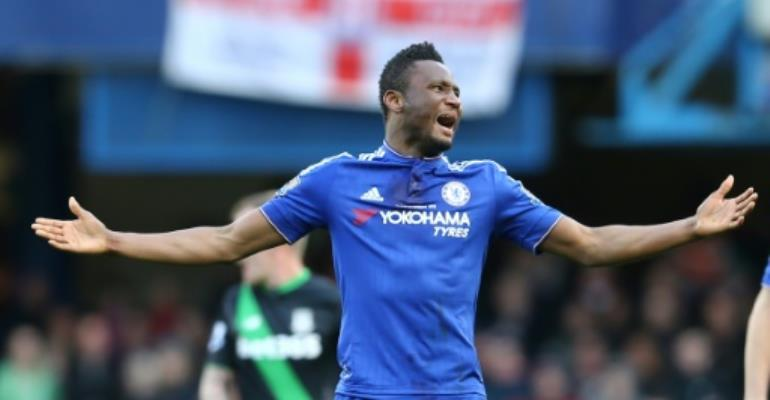 Nigerian midfielder John Obi Mikel made 374 appearances for Chelsea.  By JUSTIN TALLIS (AFP)
