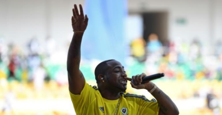 Nigerian pop star Davido has 2.8 million followers on Twitter and five million on Instagram.  By GABRIEL BOUYS (AFP/File)