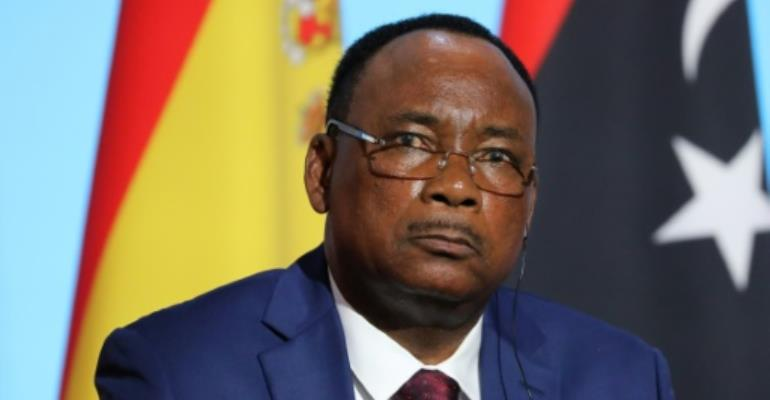 Nigerien President Mahamadou Issoufou, pictured in August 2017, said an attack on a joint patrol in his country's southwest resulted in a