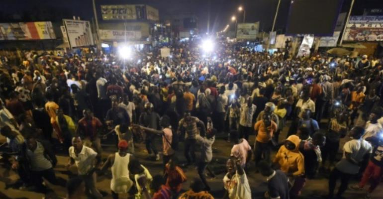 Opposition supporters keep an all-night vigil to press for constitutional reform in Lome, on September 7, 2017.  By PIUS UTOMI EKPEI (AFP/File)