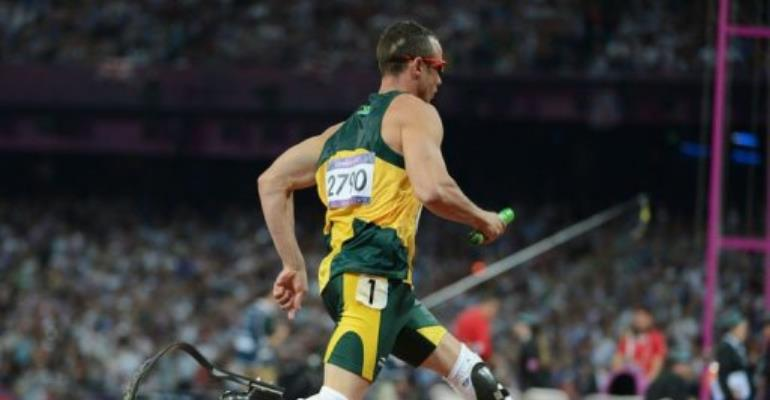 South Africa's double amputee runner Oscar Pistorius.  By Olivier Morin (AFP)