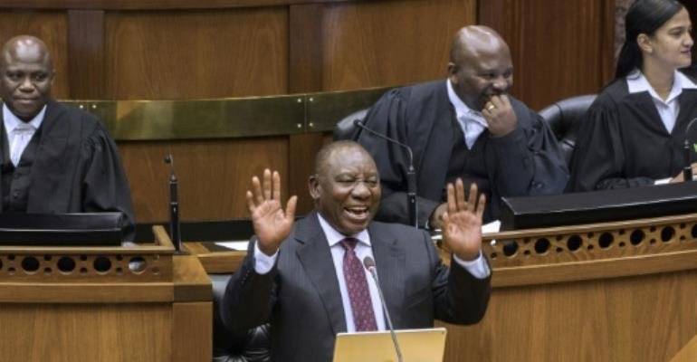 Ramaphosa, in power since only last week, will put his name to a budget that promises to be tough.  By RODGER BOSCH (AFP)