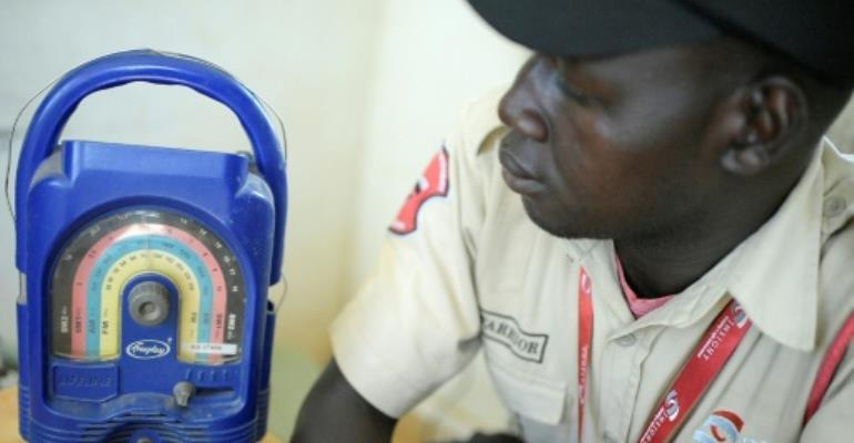 Radio is the main source of information in South Sudan.  By SIMON MAINA (AFP)