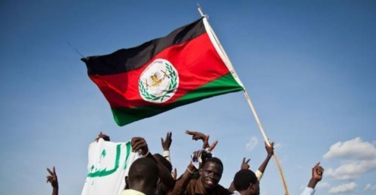 Protesters demand the withdrawal of Sudanese Armed Forces forces from Heglig.  By Adriane Ohanesian (AFP)